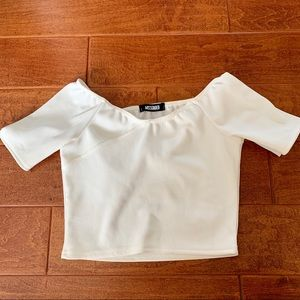 Missguided white crop top